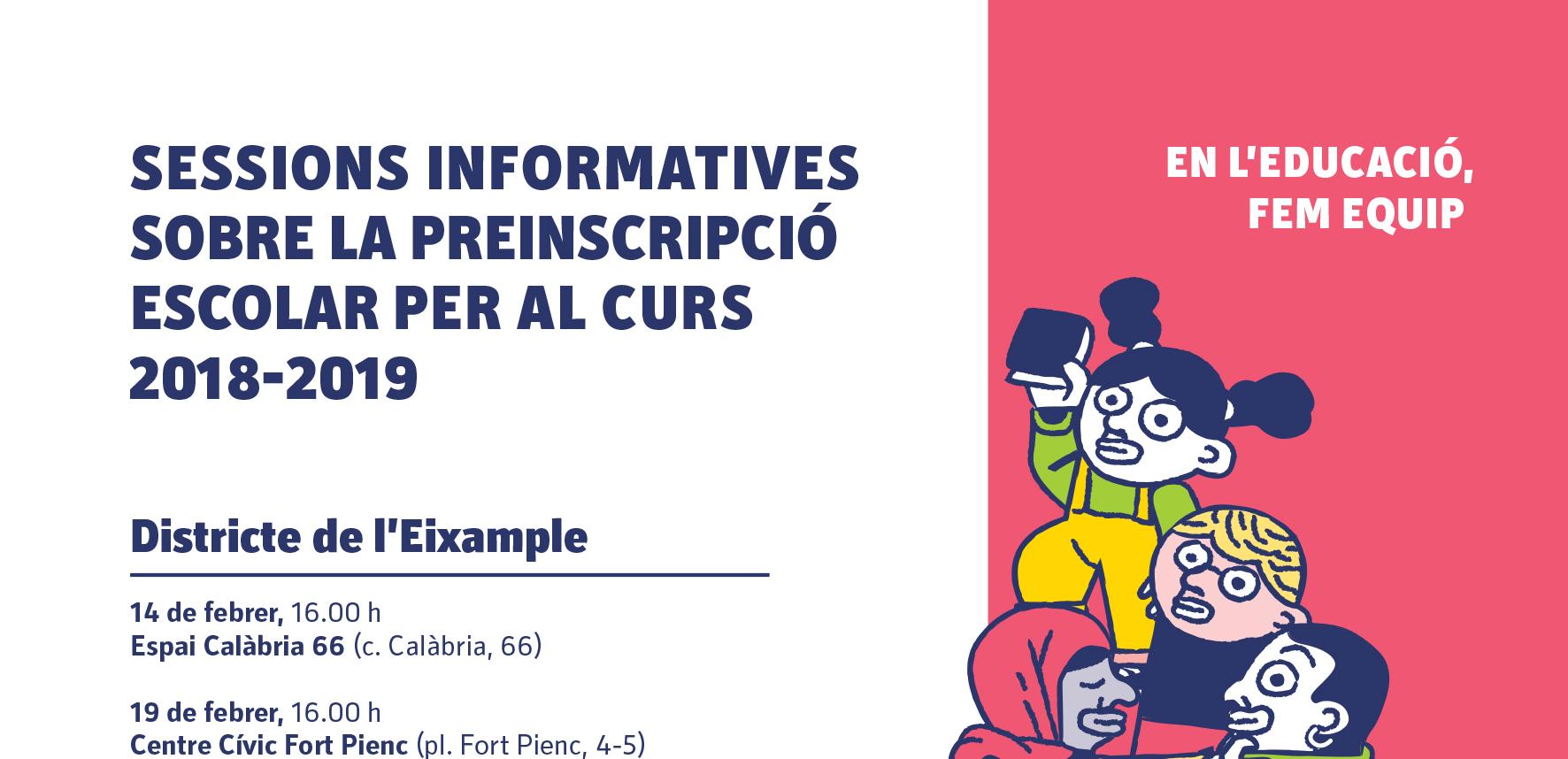 Sessions informatives sobre preinscripció a l'Eixample